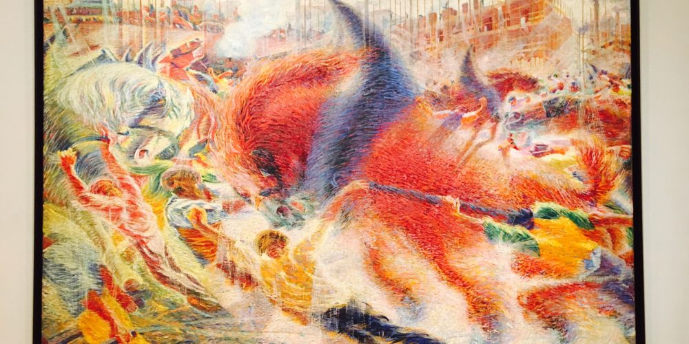 The City Rises, Umberto Boccioni 1910