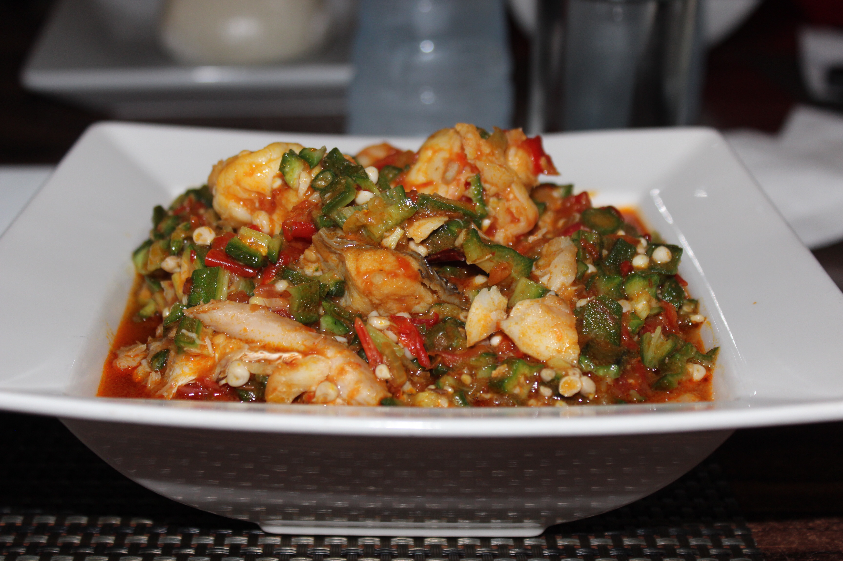 Sea food Okro soup at L'afric VI lagos