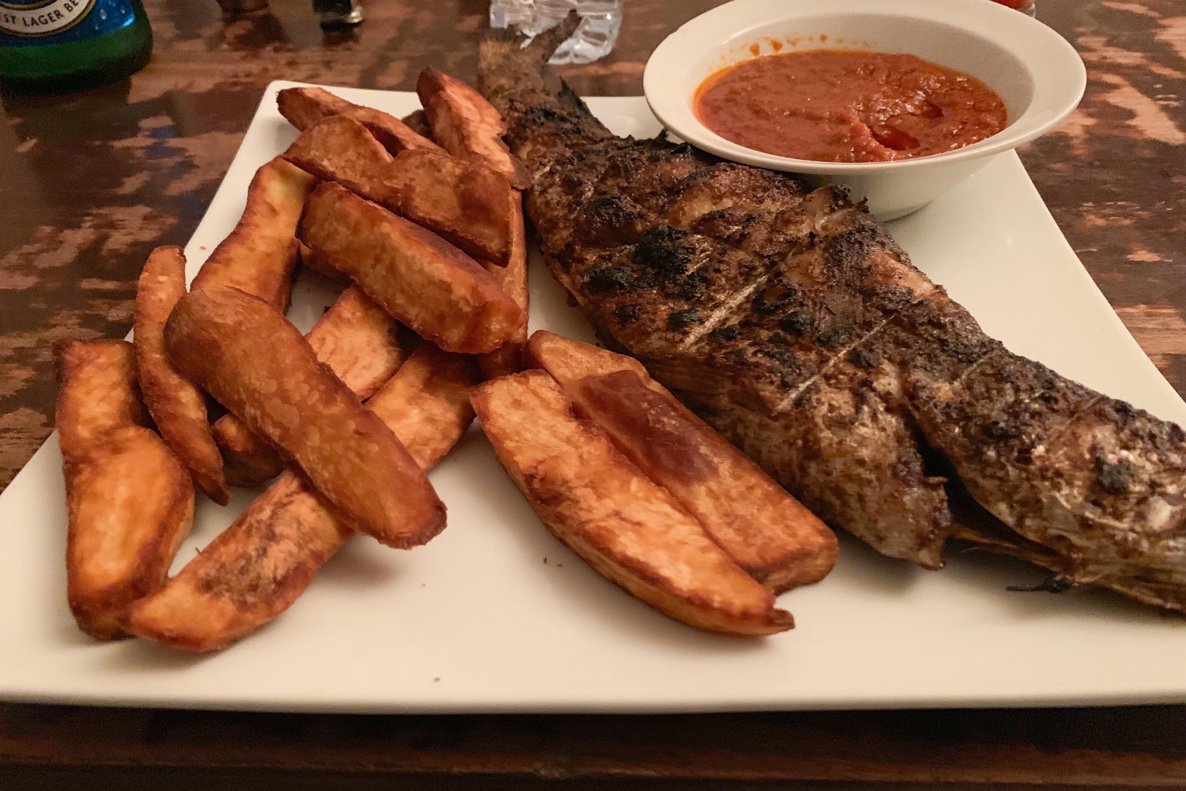 Grilled fish at Basilico, VI Lagos