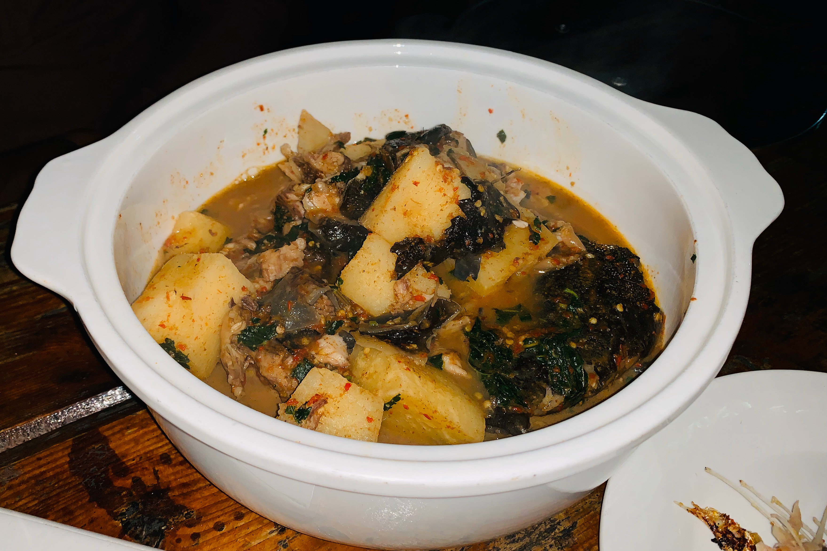 Catfish pepper soup at Switch 1922 restaurant Lekki Lagos