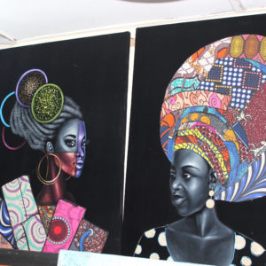 Paintings at Lekki Art Market, Lagos Nigeria