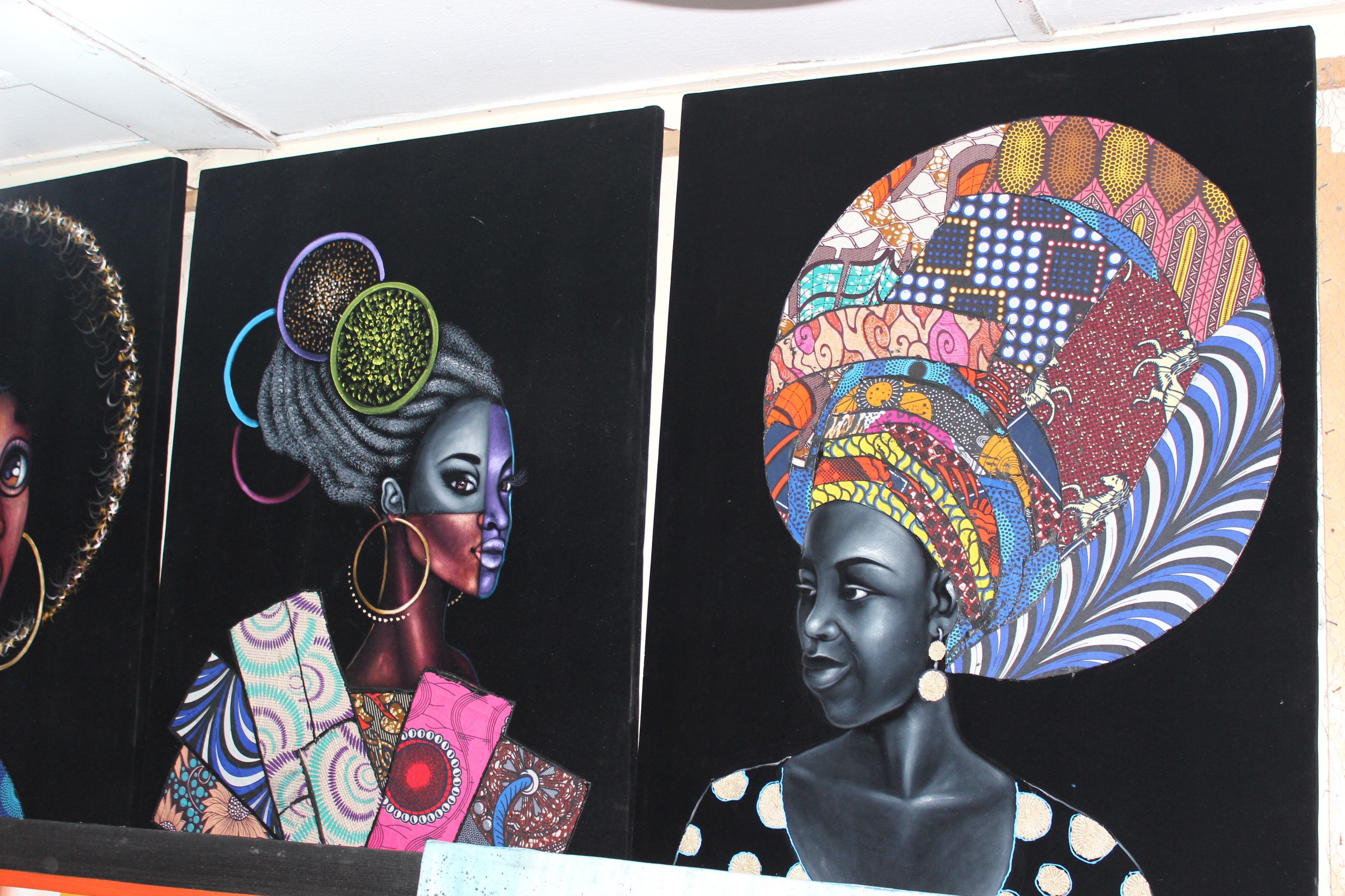 Paintings at Lekki Art Market, Lagos Nigeria
